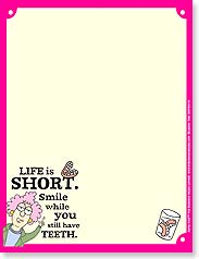 Note Pad - Life is short. Smile... | Aunty Acid™ | 63101 | Leanin' Tree