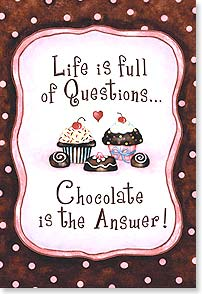 Magnet - Chocolate is the Answer | Barbara Ann Kenney | 67007 | Leanin' Tree