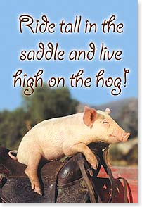 Magnet - Staff Pick - Live high on the hog! | Kimball Stock | 67048 | Leanin' Tree