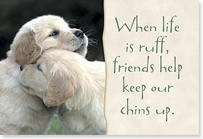 Magnet - When life is ruff, friends help | Lisa and Mike Husar | 67063 | Leanin' Tree