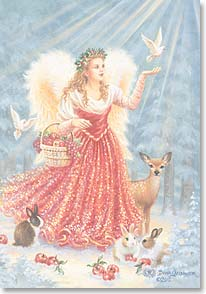 Christmas Card - May joy come to you on angel wings  | Dona Gelsinger | 70098 | Leanin' Tree