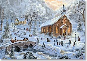 Christmas Card - May peace touch all the world  | Christine Carey | 70133 | Leanin' Tree