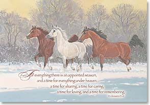 Christmas Card - Greetings | A Time For Remembering | Ron Stewart | 70149 | Leanin' Tree