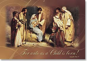 Christmas Card - May Christmas touch lives; Isaiah 9:6-7 - 70331 | Leanin' Tree