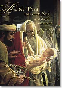 Christmas Card - God, open our eyes; John 1:14  | Greg Olsen | 70339 | Leanin' Tree
