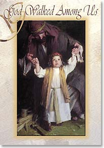 Christmas Card - God Walked Among Us | Morgan Weistling | 70341 | Leanin' Tree