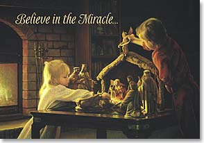 Christmas Card - Believe in the Miracle: I John 3:1 | Greg Olsen | 70342 | Leanin' Tree