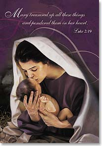 Christmas Card - May your Christmas be blessed; Luke 2:19 | Liz Lemon Swindle | 70867 | Leanin' Tree