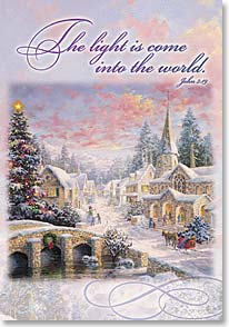 Christmas Card - Glory of joy and happiness; John 3:19  | Nicky Boehme | 70869 | Leanin' Tree