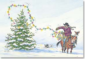 Christmas Card - Hopin' you ropin' a very Merry Christmas! | Crash Cooper | 70933 | Leanin' Tree