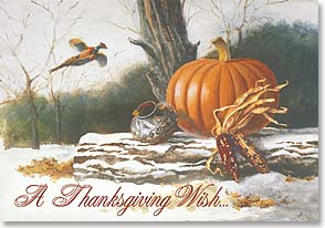 Thanksgiving Card - May you have more reasons to be thankful | Lisa Danielle | 70958 | Leanin' Tree