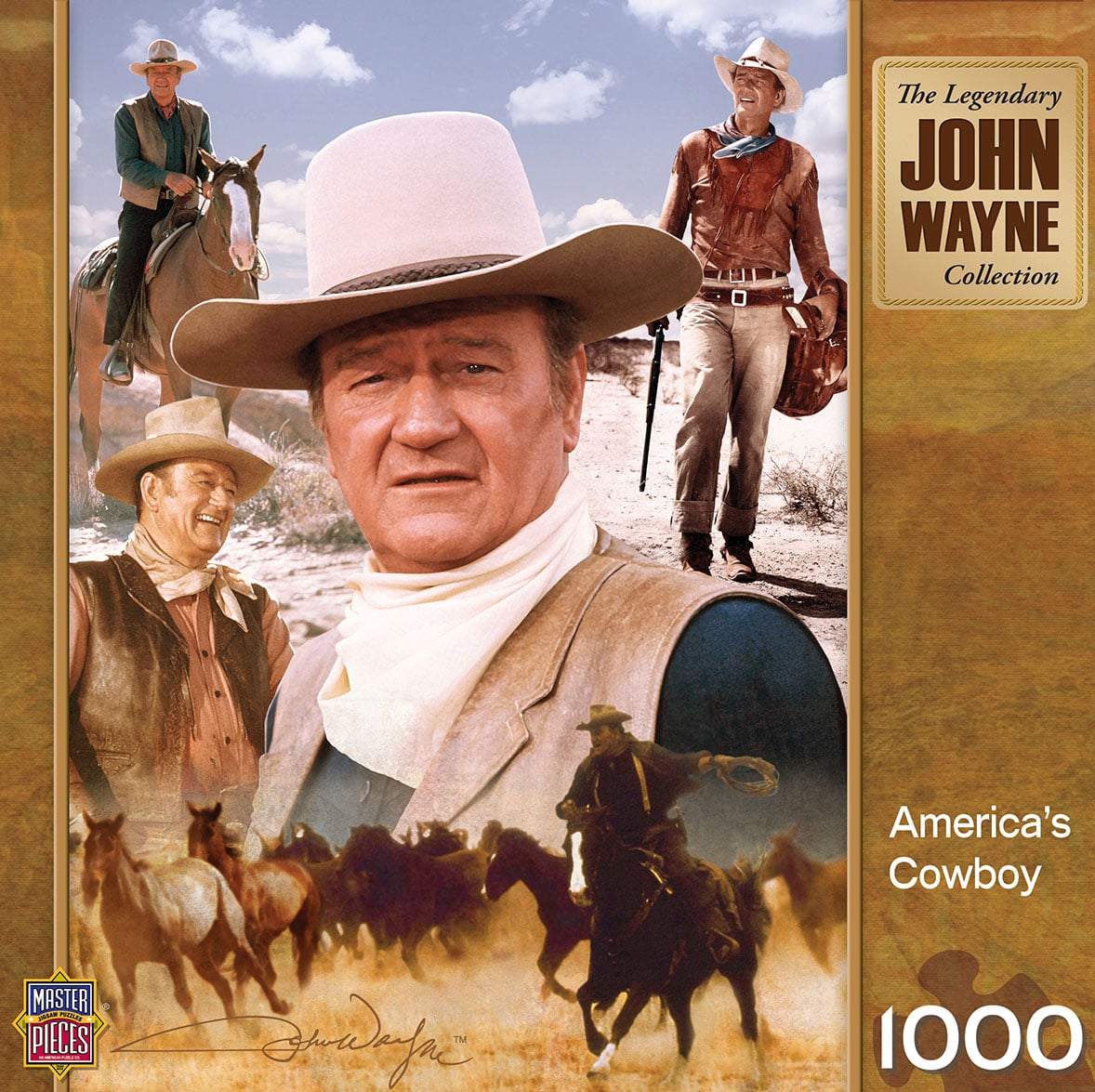 Puzzle - America's Cowboy John Wayne Puzzle - 712384 | Leanin' Tree