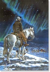 Christmas Card - Merry Christmas with Cowboy's Prayer | Mille Funk | 71584 | Leanin' Tree