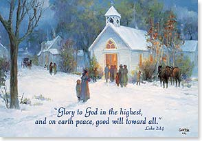Christmas Card - The Glory of Christmas; Luke 2:14 - 71665 | Leanin' Tree