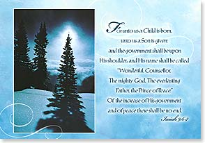 Christmas Card - With Scripture | Celebrate the Prince of Peace | Marc Schneider | 71667 | Leanin' Tree
