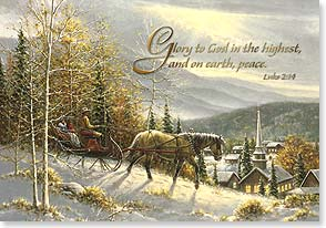 Christmas Card - May love and light be with us this Holy Season w/ Luke 2:14 | Jack Terry | 71808 | Leanin' Tree