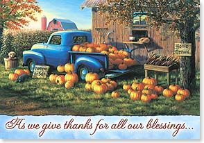 Thanksgiving Card - We give thanks for you. - 71882 | Leanin' Tree