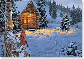 Christmas Card - Friends at your Fireside | Darrell Bush | 71909 | Leanin' Tree