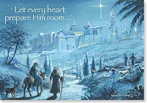 Christmas Card - God sent forth His Son: Galatians 4:4 | Gordon Lees | 72114 | Leanin' Tree