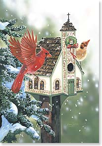 Christmas Card - Thanks to God for the blessings He sends w/ Psalm 100:2 | Janene Grende | 72188 | Leanin' Tree