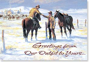 Christmas Card - Extending a Hand and a Heartfelt Wish | Ron Crooks | 72282 | Leanin' Tree