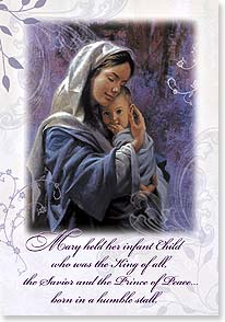 Christmas Card - The Savior is Born: Luke 1:46-47 | James Seward | 72338 | Leanin' Tree