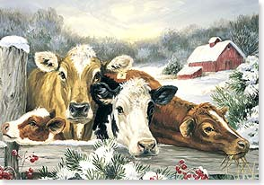 Christmas Card - Sending a Herd of Holiday Wishes | Linda Picken | 72521 | Leanin' Tree