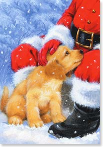 Christmas Card - Merry Little Christmas Puppy | Hazel Lincoln | 72658 | Leanin' Tree