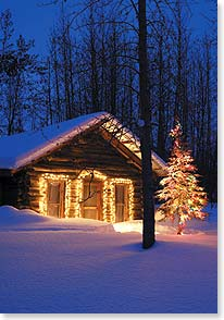 Holiday Card - May your home be aglow with good times | Age Fotostock | 72691 | Leanin' Tree