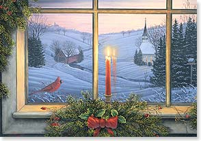 Christmas Card - Candlelight Cardinal | Sam Timm | 72868 | Leanin' Tree