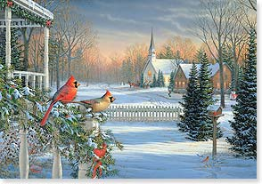 Christmas Card - Moments of Quiet Holiday Joy | Sam Timm | 72903 | Leanin' Tree