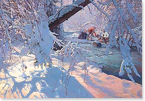 Christmas Card - May this find you safe and warm. | John Buxton | 72960 | Leanin' Tree