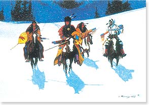 Christmas Card - May the Christmas spirit ride with you! | Gale Running Wolf | 72961 | Leanin' Tree