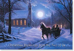 Christmas Card - Peace from the Two of Us; Ephesians 1:2 | Mark Keathley | 72985 | Leanin' Tree