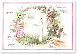 Christmas Card - A Holiday Lit With Joy | Sandi Gore Evans | 72988 | Leanin' Tree
