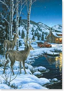 Christmas Card - May your world be set aglow with heartwarming joys | Darrell Bush | 73048 | Leanin' Tree