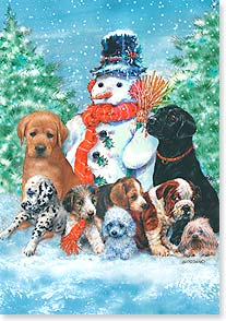 Christmas Card - May holiday joys warm your heart  | Giordano Studios | 73082 | Leanin' Tree