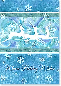 Holiday Card - Warm holiday Wishes with New Year hopes  | Lynnea Washburn | 73089 | Leanin' Tree
