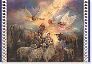 Christmas Card - All Creation Celebrates; 2 Cor. 9:15 | Nona Hengen | 73113 | Leanin' Tree