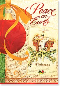 Christmas Card - Prayers of Peace For You; John 1:16 | Joy Hall | 73125 | Leanin' Tree