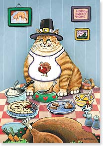 Thanksgiving Card - Pass the Turkey, Pile on the Dressing | Gary Patterson | 73129 | Leanin' Tree