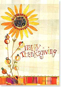Thanksgiving Card - Bright With Joy, Warmed by Gratitude | Robbin Rawlings | 73130 | Leanin' Tree