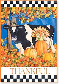 Thanksgiving Card - A Gathering of Thankfulness and Joy | Kathleen Parr McKenna | 73131 | Leanin' Tree