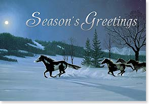Christmas Card - Aglow with Memorable Moments | Bob Peters | 73136 | Leanin' Tree