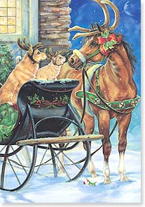 Christmas Card - Have Fun Getting Into the Spirit | Donna Race | 73138 | Leanin' Tree