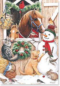 Christmas Card - May you gather for a wonderful holiday  | Kathy Goff | 73139 | Leanin' Tree