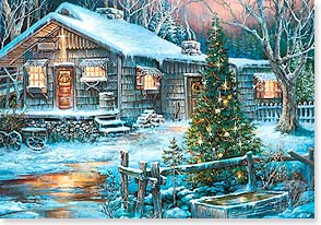 Christmas Card - May happiness warm your holidays  | Sandy Bergeron | 73147 | Leanin' Tree