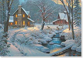 Christmas Card - May you find a warm fire and good friends...Merry Christmas | Mark Keathley | 73216 | Leanin' Tree