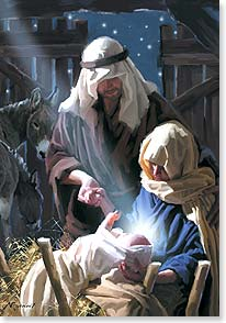 Christmas Card - May the joy of Christmas fill you; John 1:4 | Richard Macneil | 73255 | Leanin' Tree