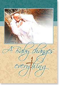 Christmas Card - Celebrating the biggest little miracle of all time; John 3: | Danny Hahlbohm | 73256 | Leanin' Tree